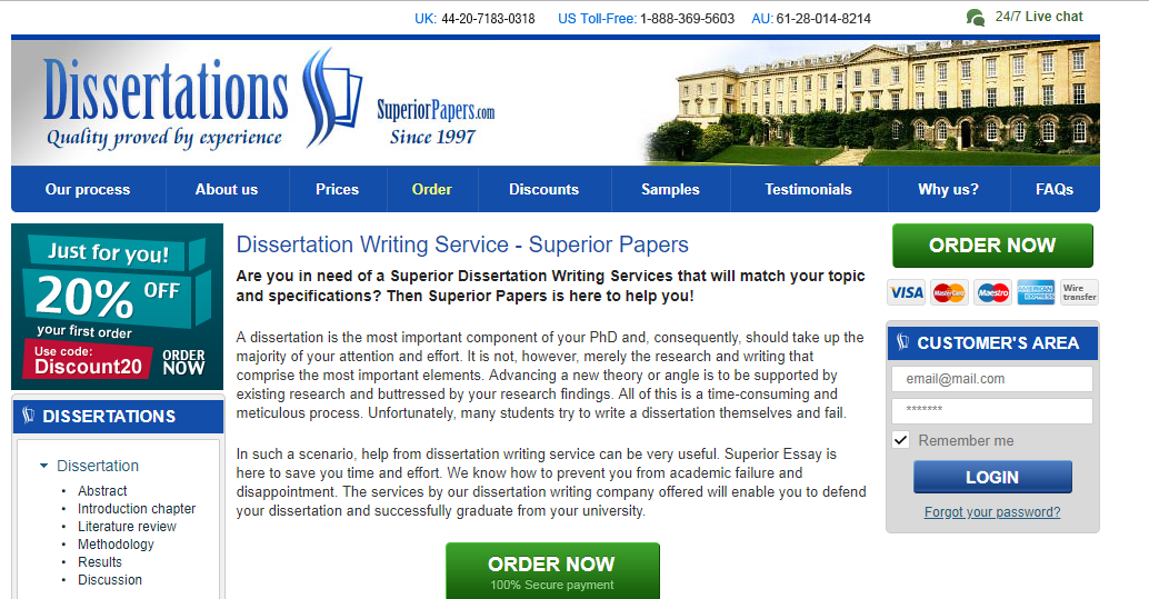 Dissertation review service judicial